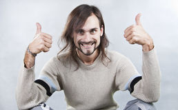 The energy young man Royalty Free Stock Photo