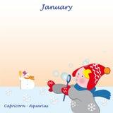 Enero ilustración del vector
