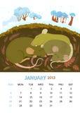 Enero stock de ilustración