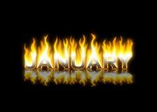 Enero en el fuego Imagenes de archivo