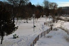 Enero en Park City imágenes de archivo libres de regalías