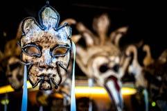 Enetian maskering Venedig Arkivbilder