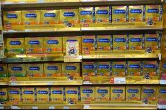 Enfagrow在超级市场卖的牛奶力量 库存照片