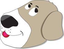 Enfaldig hundframsida Arkivbilder