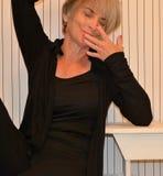 Enfaldig pensionärkvinna Royaltyfria Bilder