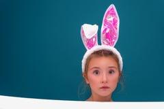 Enfance de lapin de Pâques photo libre de droits