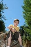 Enfant à la pièce Image libre de droits