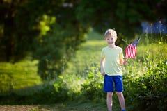 Enfant à le 4ème juillet Image libre de droits
