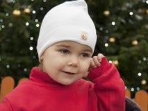 Enfant à Noël Images libres de droits