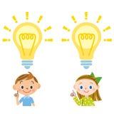 Enfant, éclair Image stock