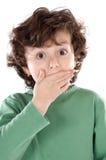 Enfant adorable étonné images libres de droits