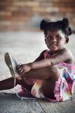 Enfant africain rural photo stock