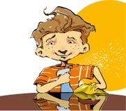 Enfant aidant avec des corvées illustration libre de droits