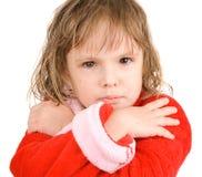 Enfant après bain Images stock