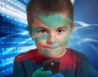 Enfant avec à télécommande Images libres de droits