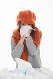 Enfant avec l'allergie ou la maladie d'enfance Image stock