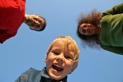 Enfant avec la famille Photos libres de droits