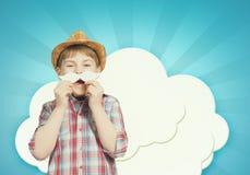 Enfant avec la moustache Photographie stock libre de droits