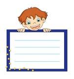 Enfant avec la présentation illustration de vecteur