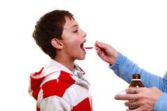 Enfant avec la varicelle Photo libre de droits