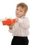 Enfant avec le cadeau Image stock
