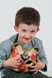 Enfant avec le masque de chat Image libre de droits