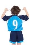 Enfant avec le numéro neuf Images libres de droits