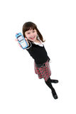 Enfant avec le portable Photo libre de droits