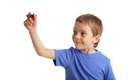 Enfant avec le repère images libres de droits