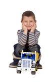 Enfant avec le véhicule Images libres de droits