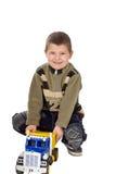 Enfant avec le véhicule Photos libres de droits