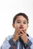 Enfant avec une pomme Image libre de droits