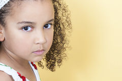 Enfant boudant triste de fille Images stock