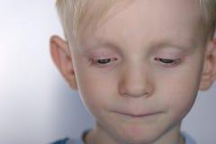 Enfant bouleversé Images libres de droits