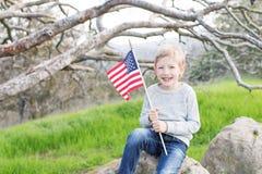 Enfant célébrant le 4ème juillet Image stock