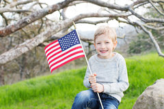 Enfant célébrant le 4ème juillet Photos libres de droits