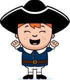 Enfant colonial enthousiaste illustration de vecteur