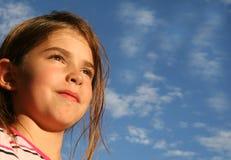 Enfant confiant plein d'espoir Photographie stock
