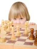enfant d'échecs d'ANG Photographie stock libre de droits