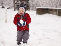 Enfant d'hiver Photographie stock libre de droits