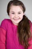 Enfant d'une chevelure mignon de Brown Photo libre de droits