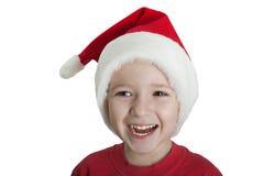 Enfant dans le chapeau de Santa Images libres de droits