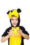Enfant dans le costume de souris Images libres de droits