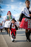 Enfant dans le costume folklorique de Vraco Images libres de droits