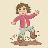 Enfant dans le magma illustration libre de droits