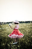 Enfant dans un domaine de fleur Photos libres de droits
