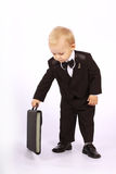 Enfant dans un smoking Photographie stock