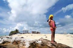Enfant de Bajau Images libres de droits