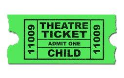 Enfant de billet de théâtre Images libres de droits