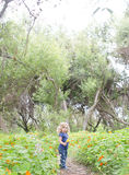 Enfant de fleur Photos libres de droits